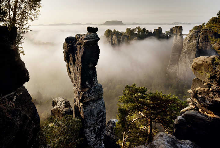 Wehlnadel, Elbsandsteingebirge von Berthold Steinhilber