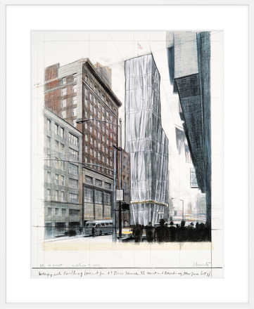 Wrapped Building, Project for #1 Times Square - Christo