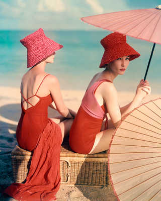 Red Parasol by Louise Dahl-wolfe