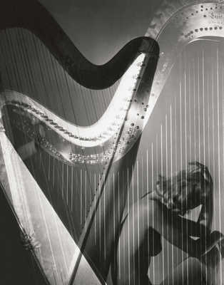 Lisa with Harp von Horst P. Horst
