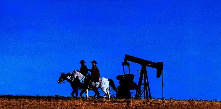 Texas Öl I von Dieter Blum