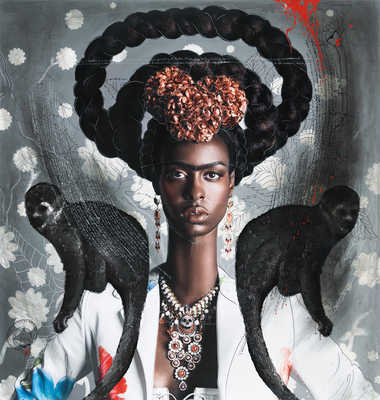 Black Frida with Monkeys von Efren Isaza