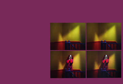 Chromo Thriller #1 - Quadtych von Miles Aldridge