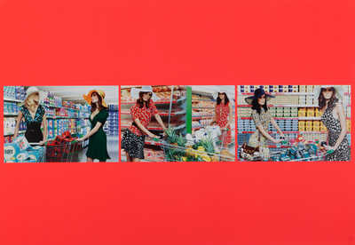 First Impression #1, 2, 3 - Triptych  by Miles Aldridge