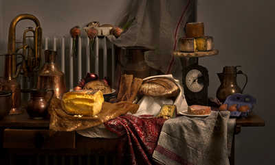 Still life with cheese de Mark Seelen