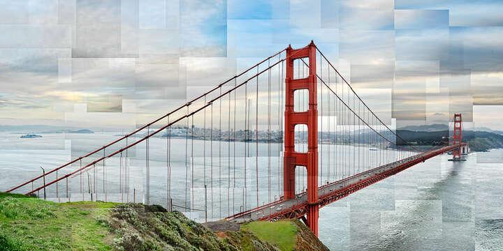 Golden Gate Panoramic von Pep Ventosa
