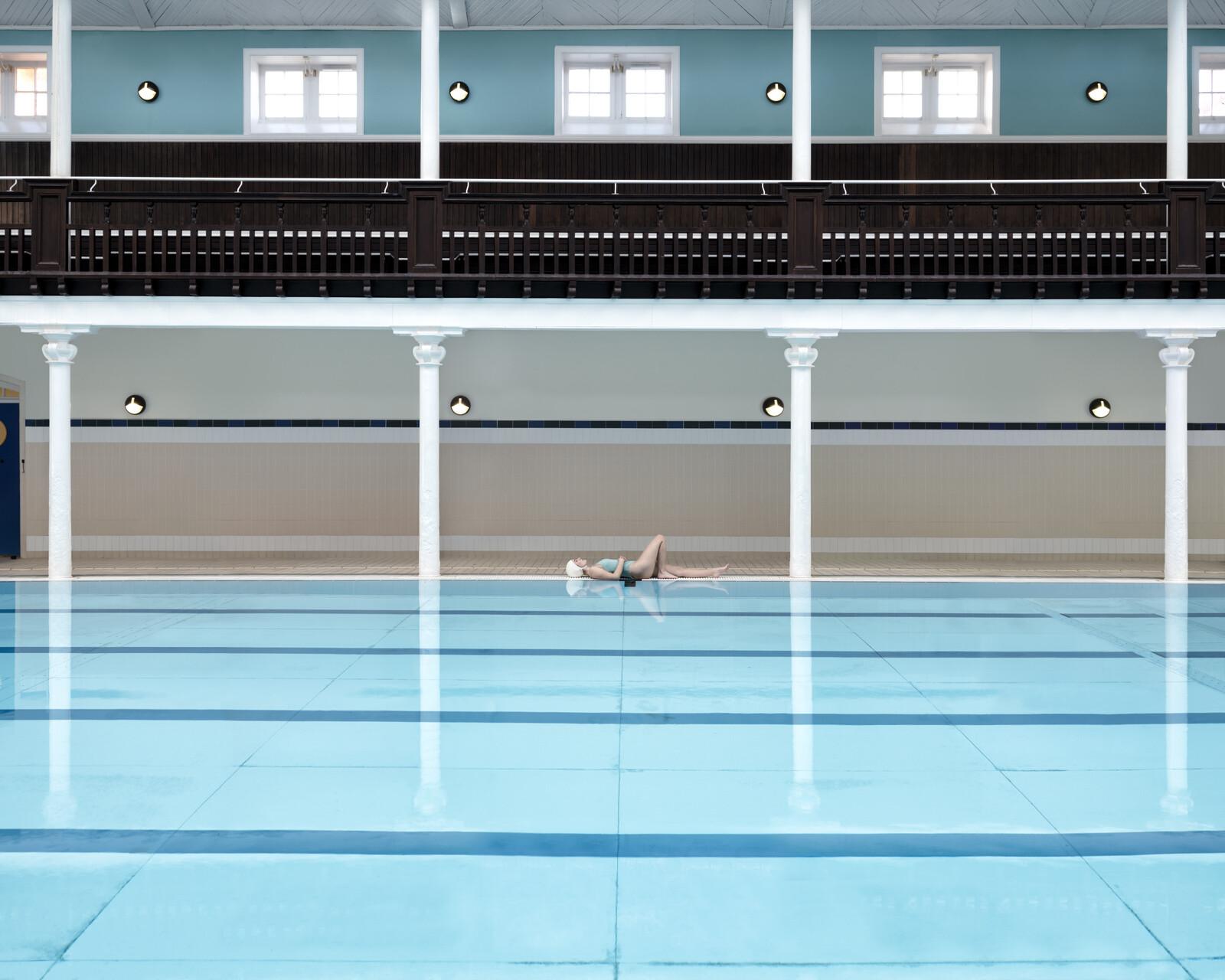 Swimmer at Portobello - Soo Burnell
