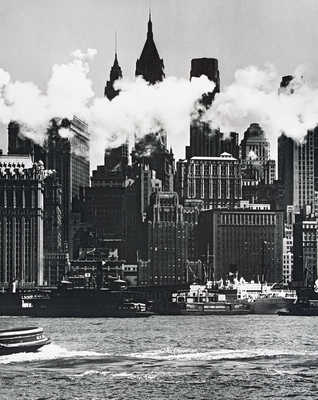 Hudson River waterfront, New York von Andreas Feininger