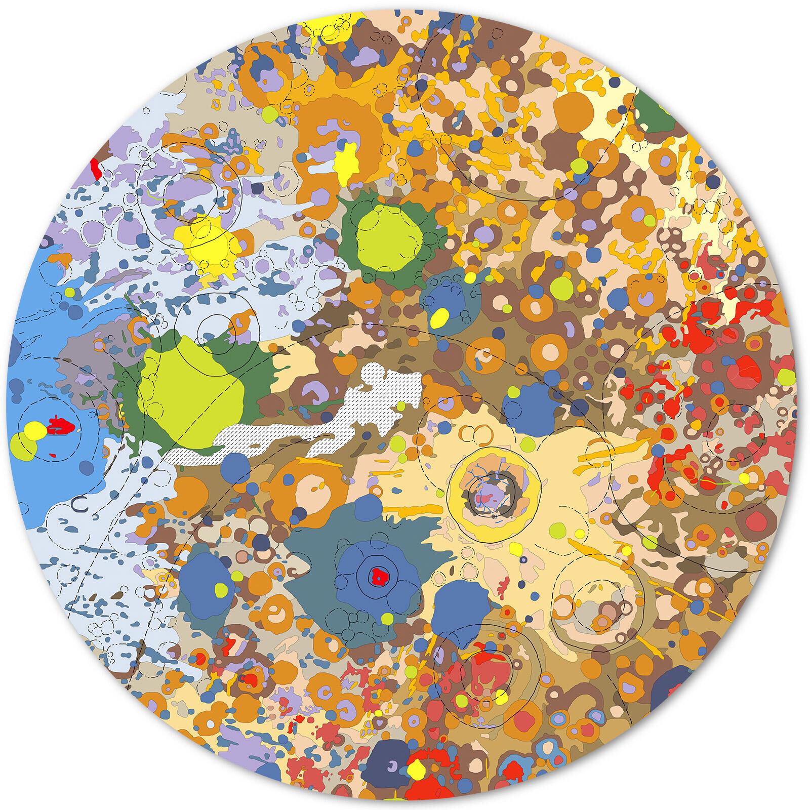 Moon, south side (USGS/Rich Kozak) - Astrogeology