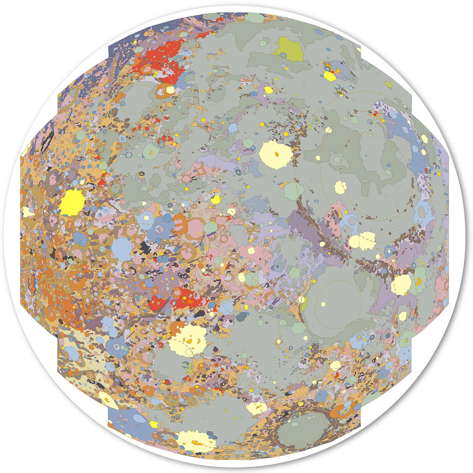 Moon, near side (USGS/Rich Kozak) - Astrogeology