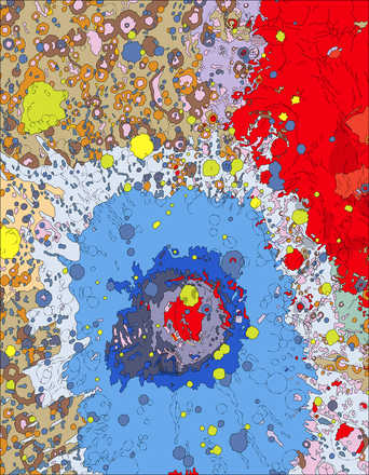 Moon, west side (USGS/Rich Kozak) - Astrogeology
