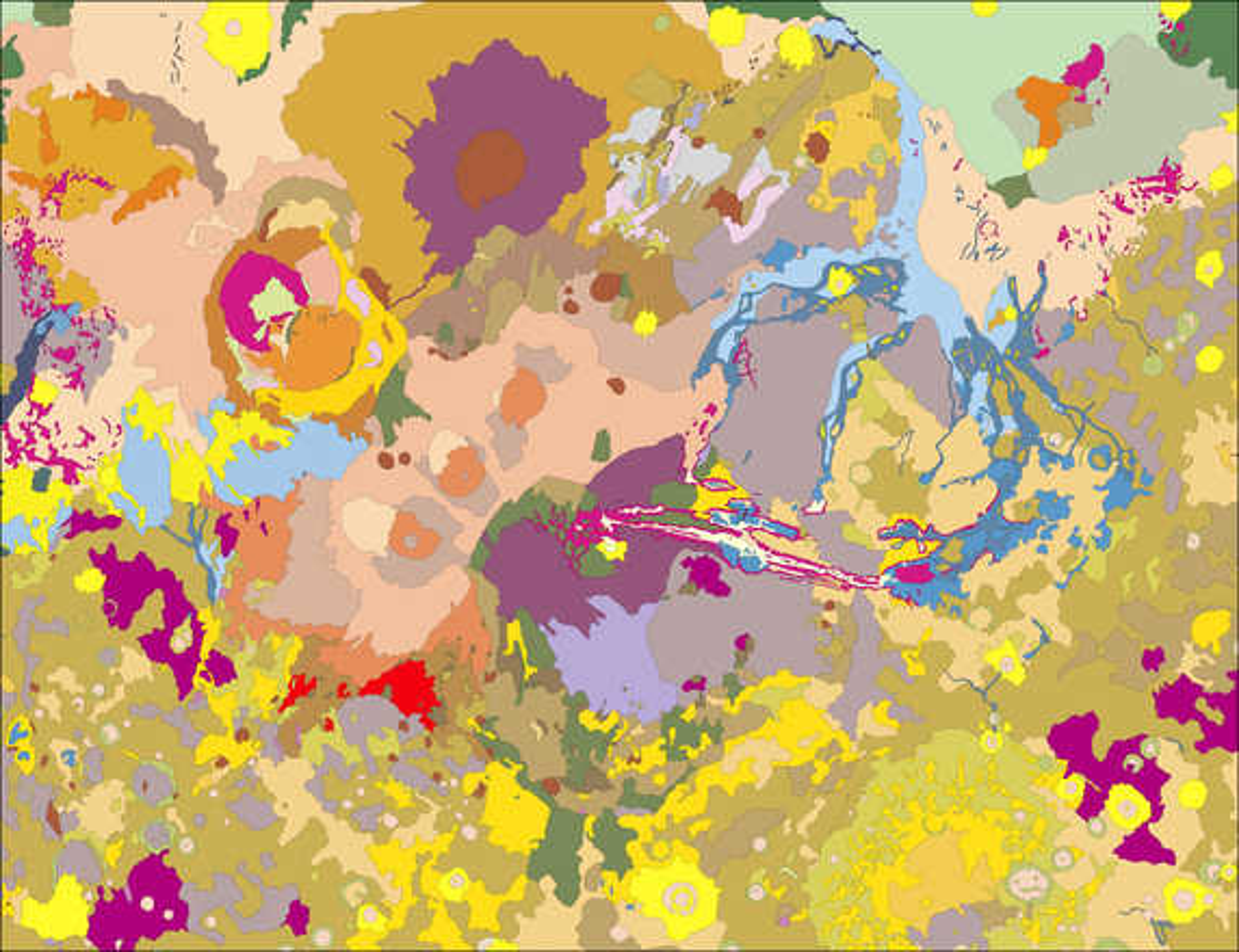 Mars, west side (USGS/Rich Kozak) - Astrogeology
