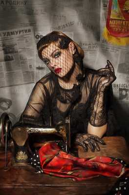 Girl with a Sewing Machine by Andrey Yakovlev & Lili Aleeva