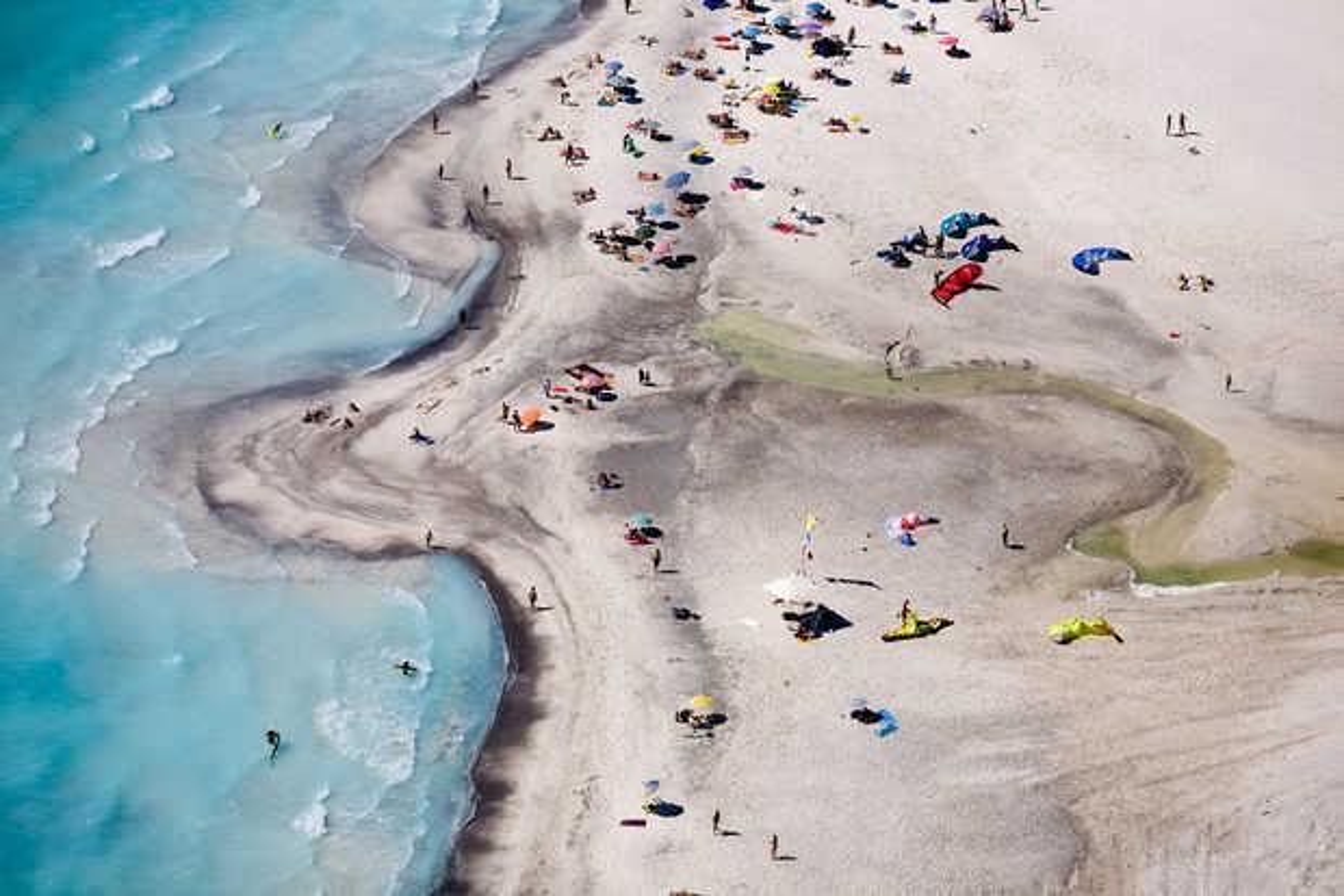 Beach goers at Rosignano Marittimo I, Italy - Alex Maclean