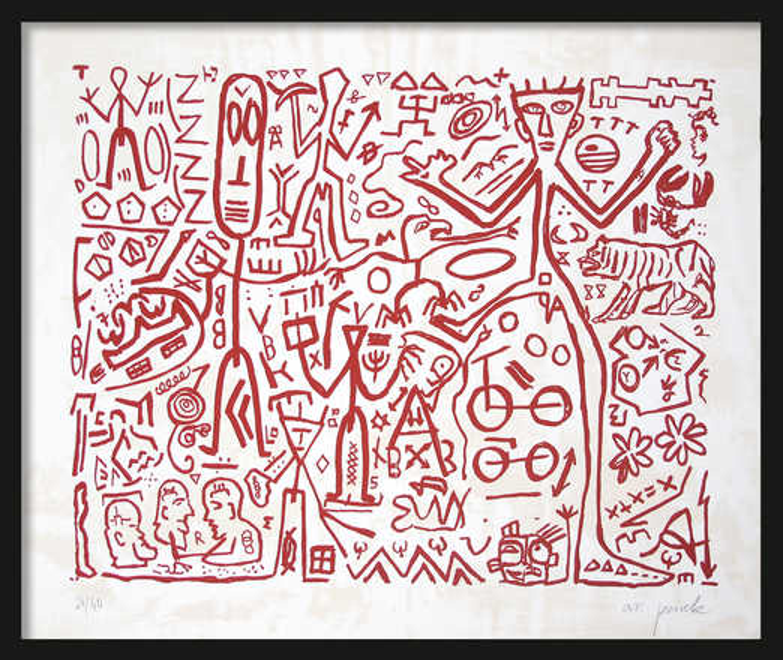 Ohne Titel (Version Rot) - A.r. Penck