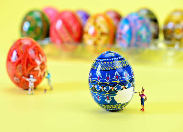 Easter Egg Artists at Work - Cathy Scola