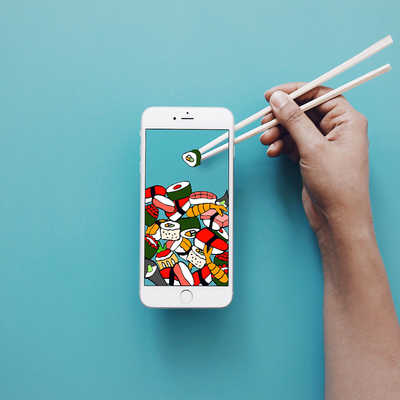 The Most Mobile Sushi yet de Anshuman Ghosh