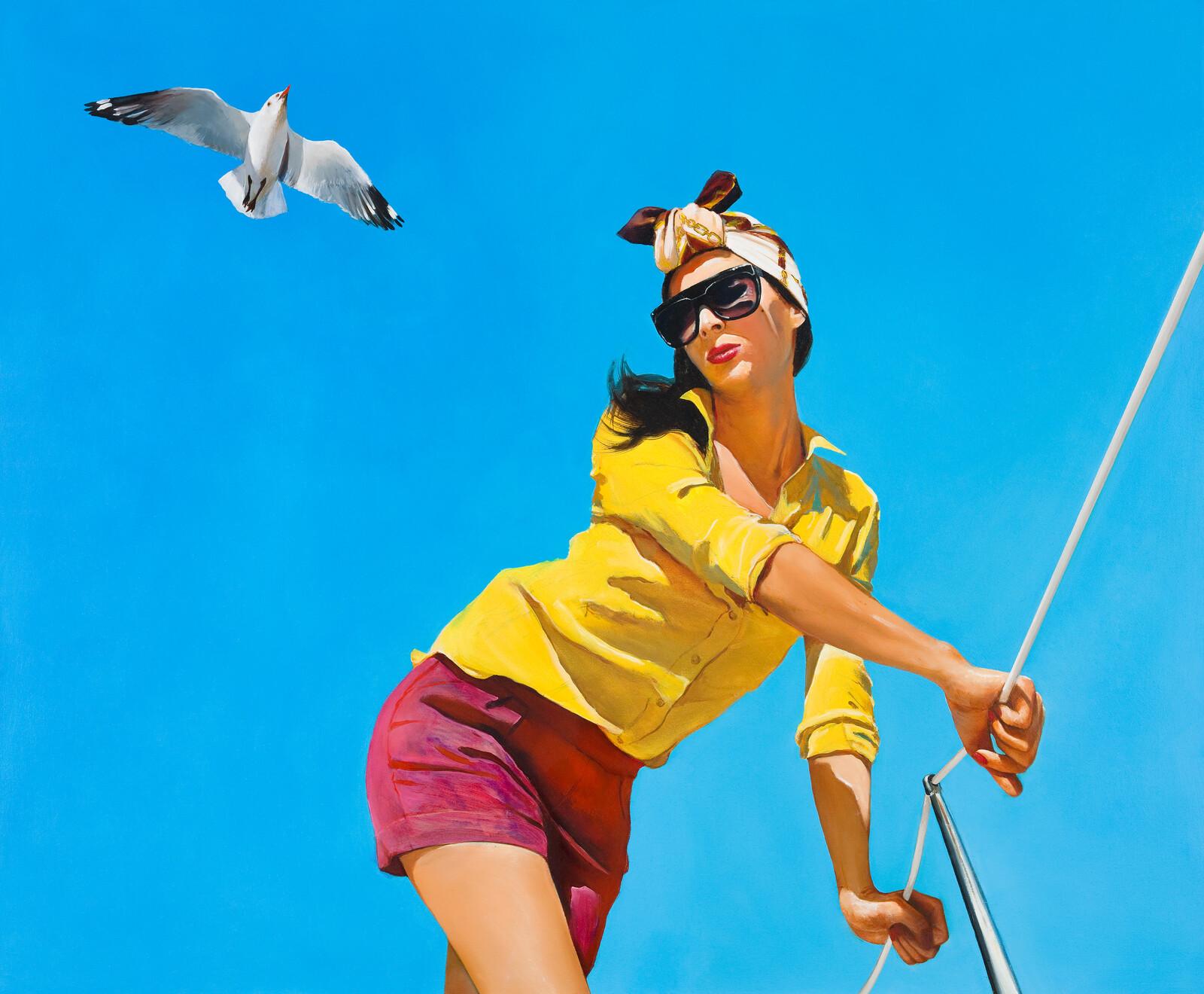 Girl with a Seagull - Boglárka Nagy