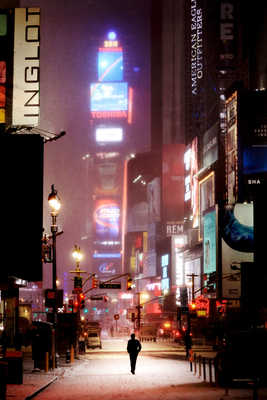 Man on broadway von Christophe Jacrot