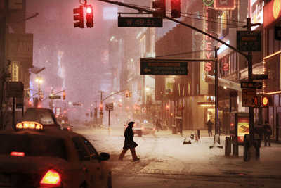 Broadway Snow von Christophe Jacrot