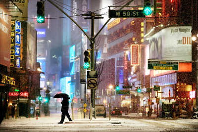 Times Square Snow Show von Christophe Jacrot