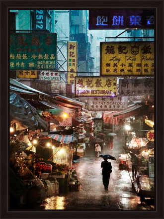 Market in the Rain - Christophe Jacrot