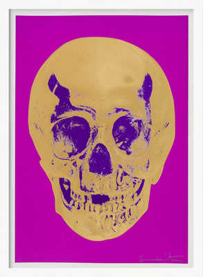 Till Death Do Us Part - Long Life - Purple African Gold Purple Imperial Purple Skull de Damien Hirst