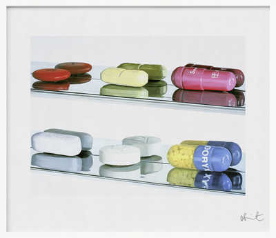 Elusive Truth Print - Six Pills - Large de Damien Hirst