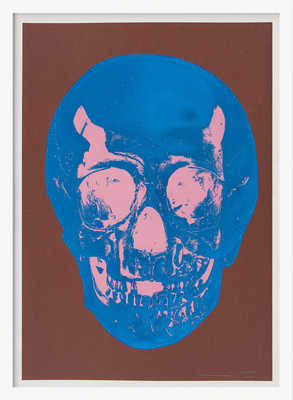 Till Death Do Us Part - Milk - Chocolate Brown True Blue Bubblegum Pink Skull de Damien Hirst