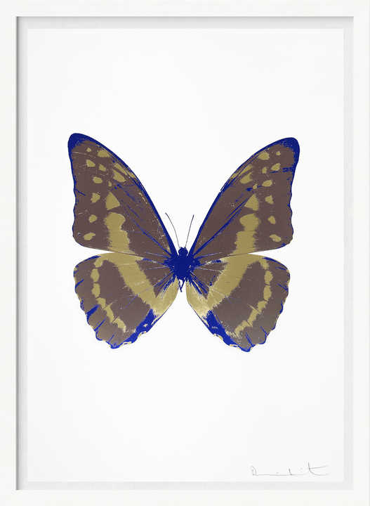The Souls III - Gunmetal Cool Gold Westminster Blue    by Damien Hirst