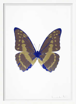 The Souls III - Gunmetal Cool Gold Westminster Blue    de Damien Hirst