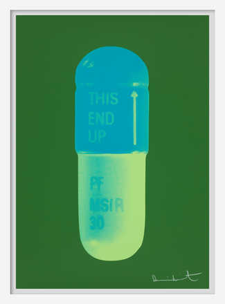 The Cure - Forest Green/Turquise/Acid Green - Damien Hirst