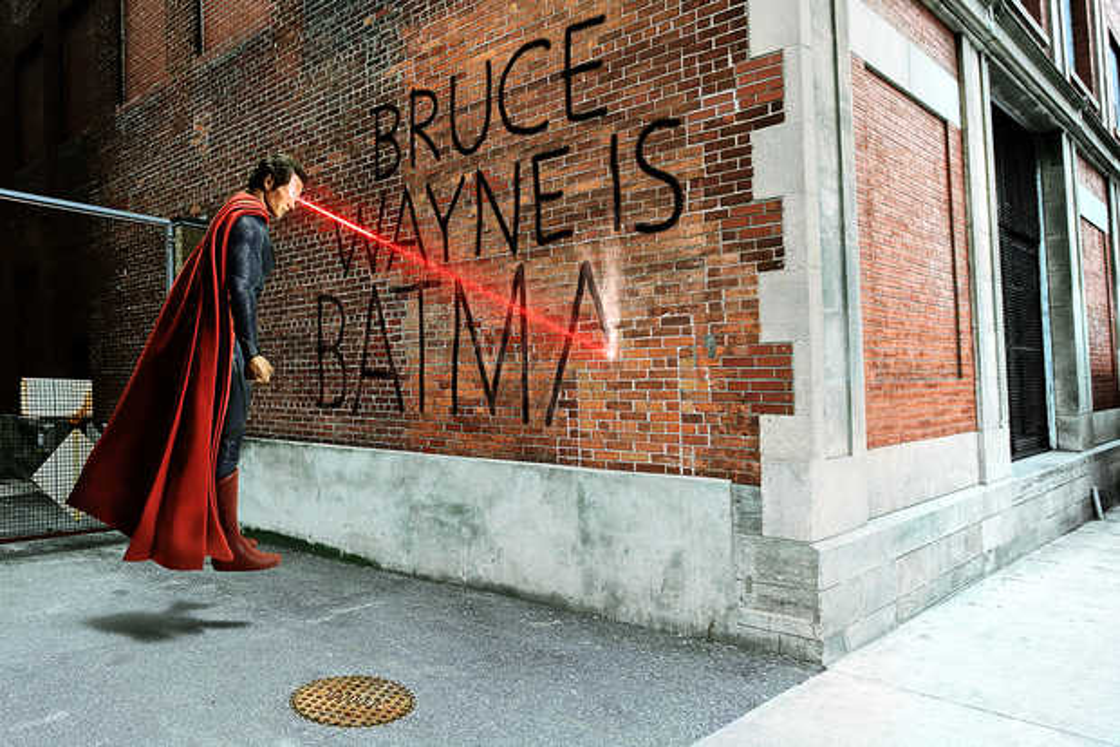 Bruce Wayne Graffiti - Daniel Picard