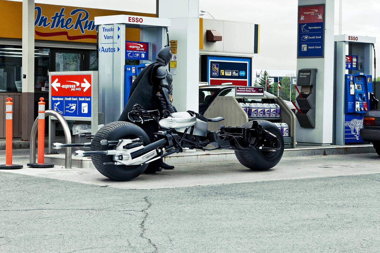 Bat-Pod at the Gas Station - Daniel Picard