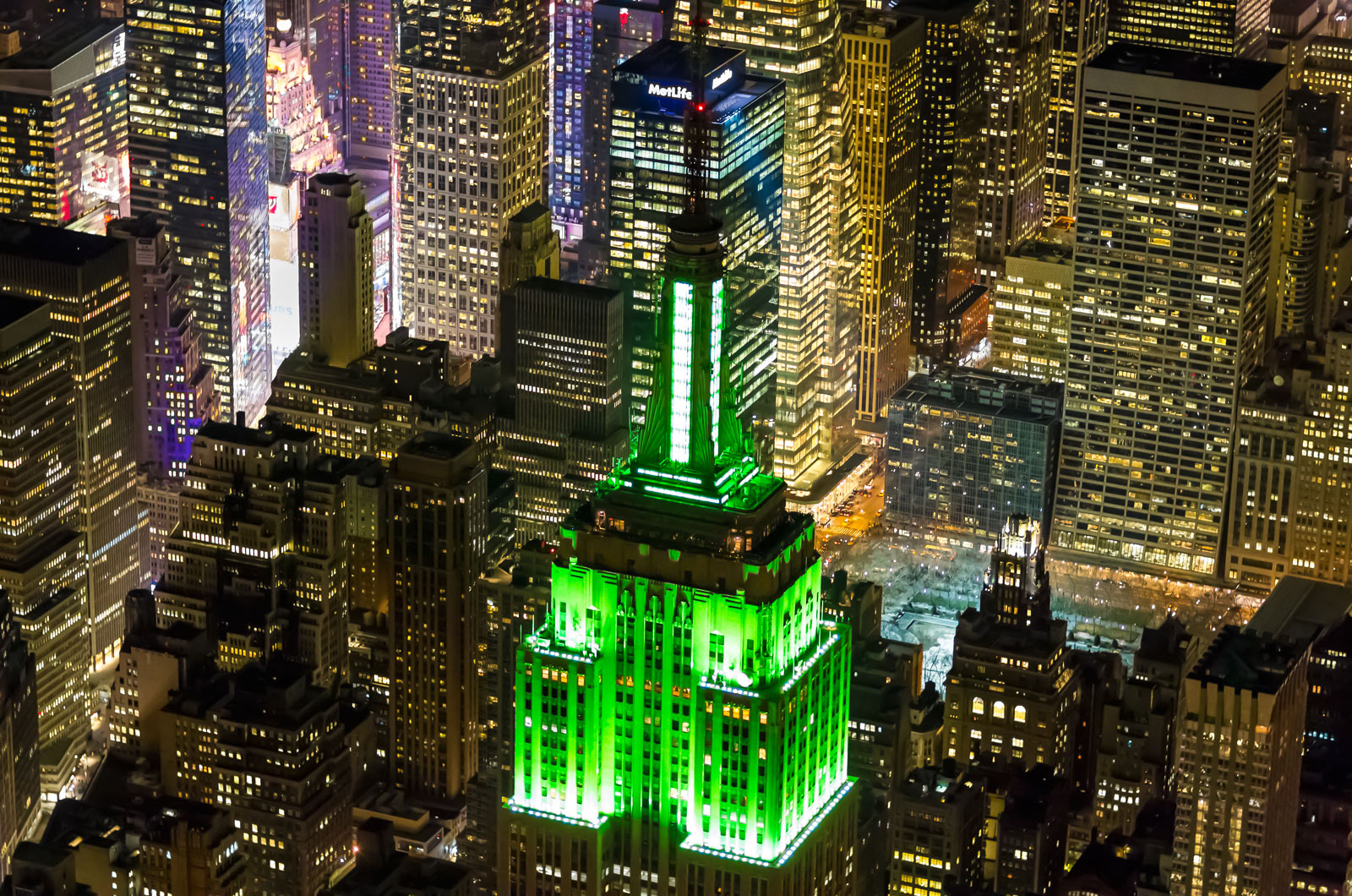 The Empire State Building on St. Patrick's Day by Evan Joseph