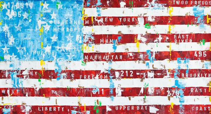 New York Flag von Freddy Reitz