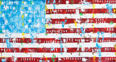 New York Flag by Freddy Reitz