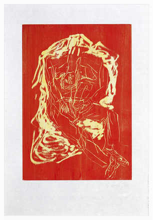Remix, Haus (Version Rot/Gelb) - Georg Baselitz