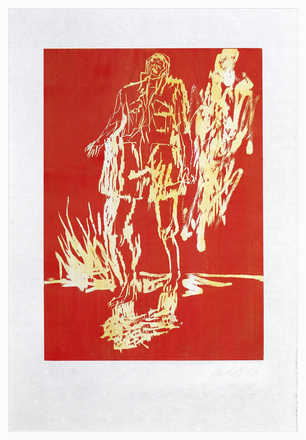 Remix, Partisan (Version Rot/Gelb) - Georg Baselitz