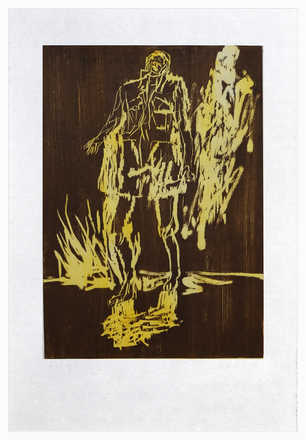 Remix, Partisan (Version Braun/Gelb) - Georg Baselitz