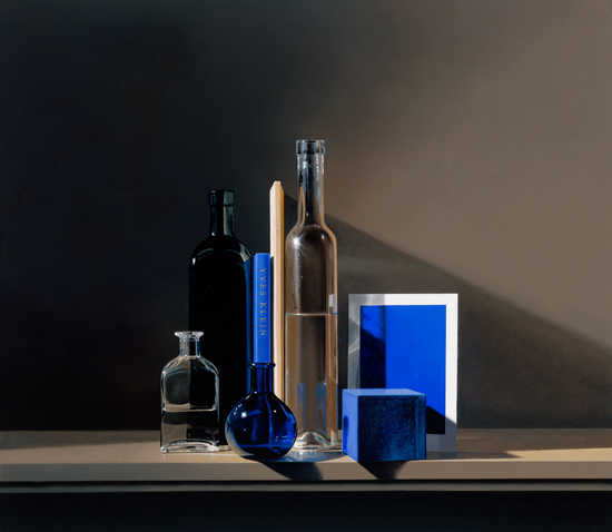 Still life with Yves Klein Blue