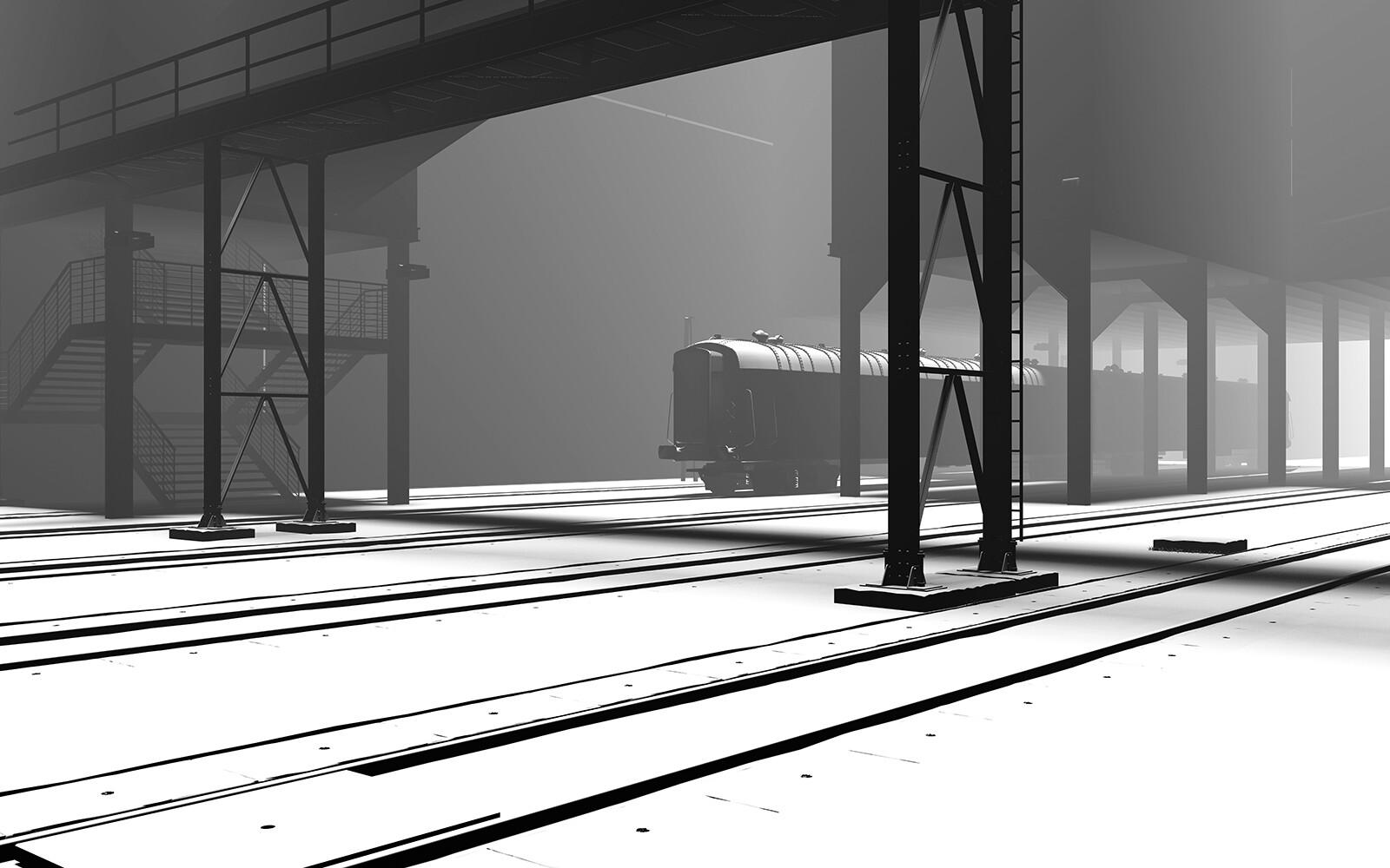 Bahnsteig - Gero Gries