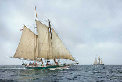 Lady Maryland Racing on the Chesapeake Bay by Greg Pease