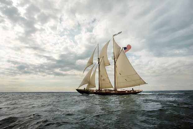 Schooner Virginia Racing on the Chesapeake Bay - Greg Pease