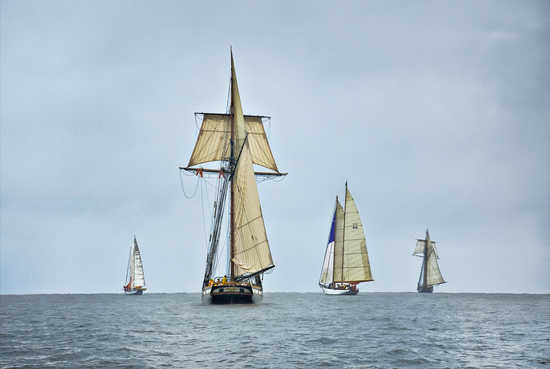 Schooners Racing on the Chesapeake Bay