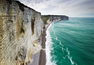 Chalk Cliffs, Normandy, France de Jonathan Andrew