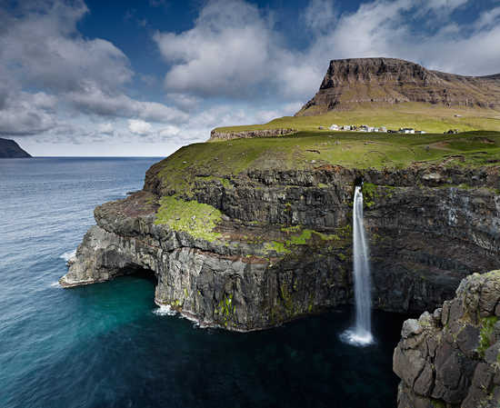 Múlafossur Waterfall, Faroe Islands