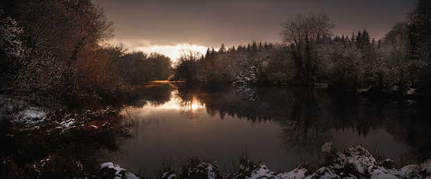 St. Giles House Lake, Winter View - Justin Barton