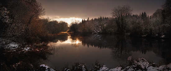 St. Giles House Lake, Winter View