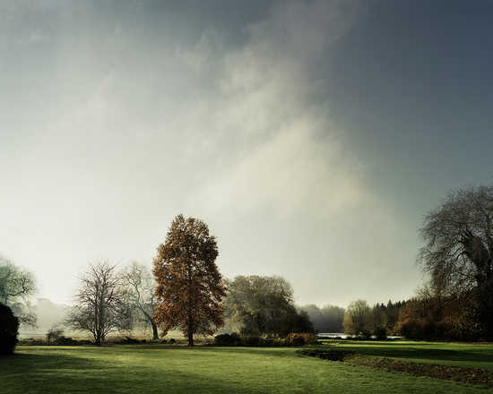 View of the lake in Autumn on St Giles House Park - Justin Barton
